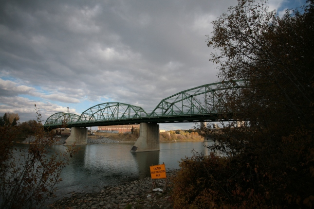 The Walterdale Bridge, back in 2013. It will not be around much longer - construction has already transformed the area.