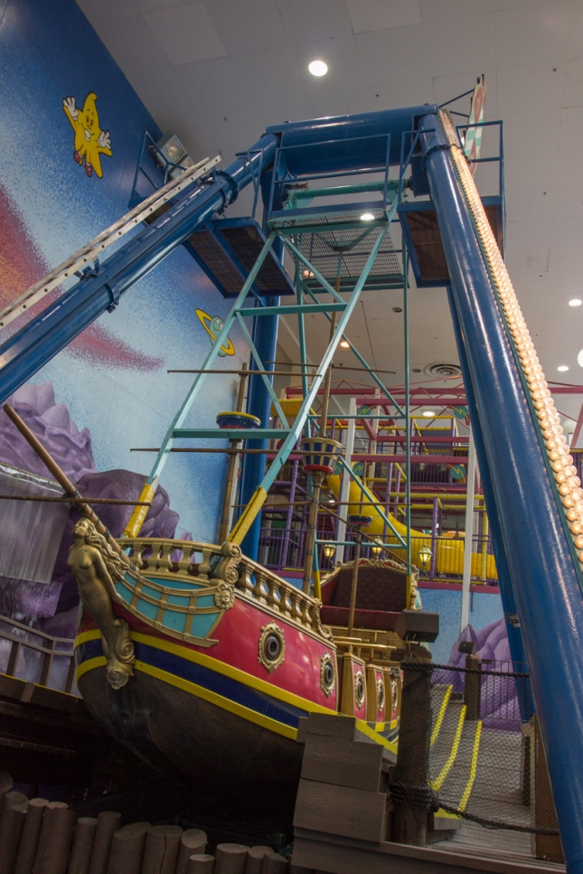 New, much-less-awesome pirate ship ride. It doesn't go upside down!